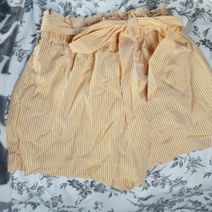 never worn high waisted yellow shorts